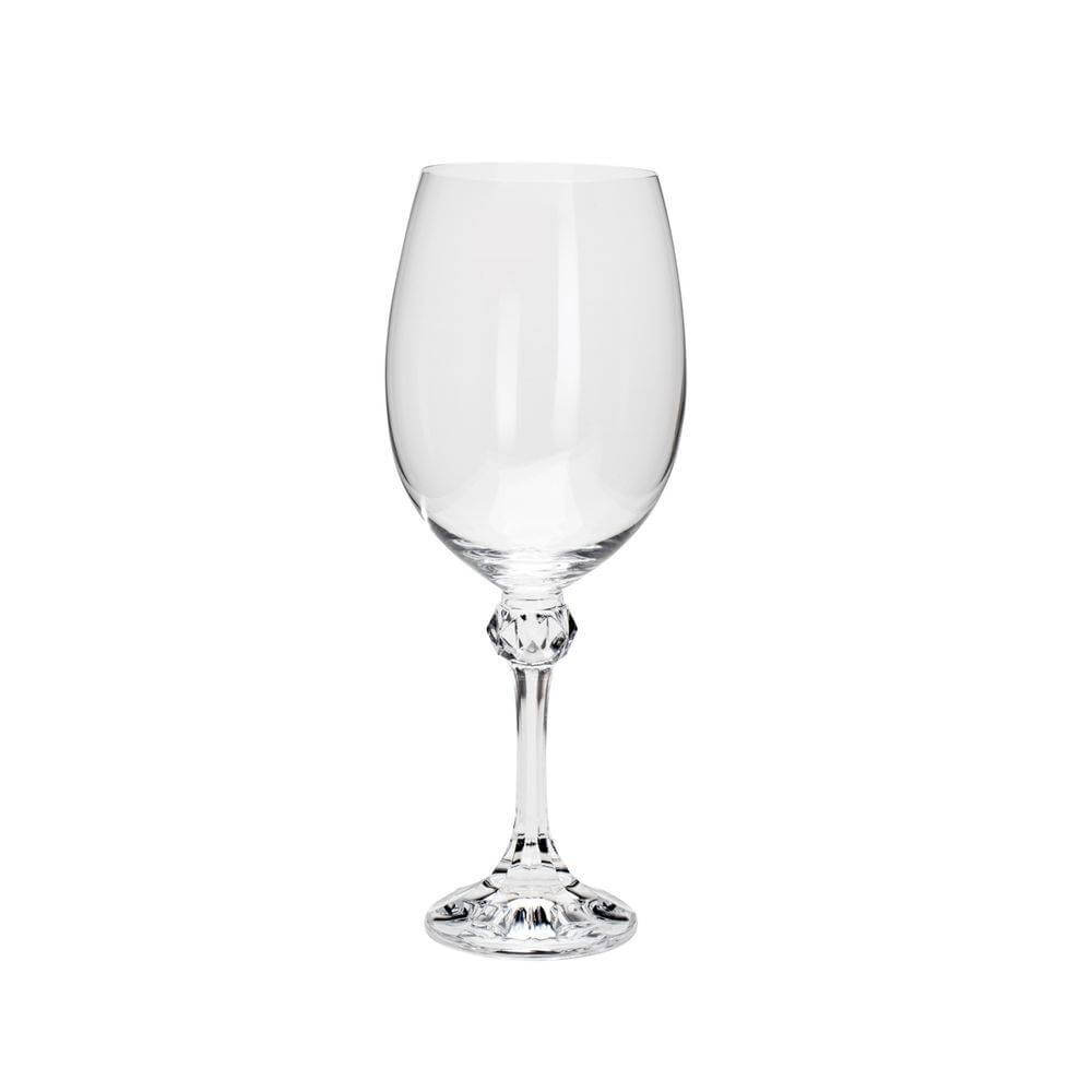 Conjunto de Taças p/ Água Bohemia Elisa 450ml em Cristal Ecológico 35088 - 6 Peças