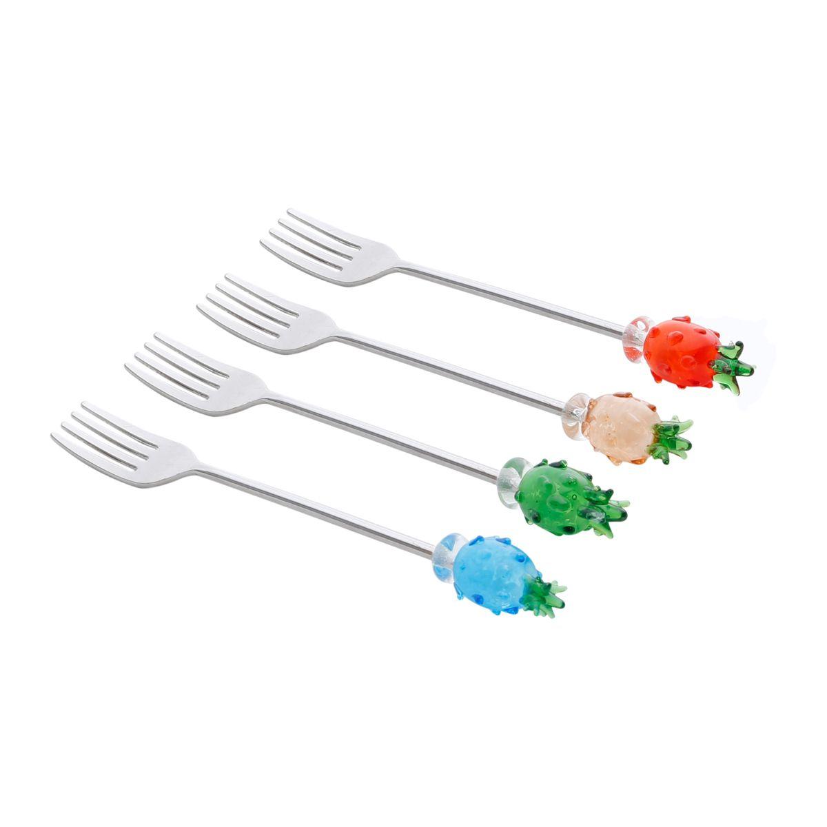 Conjunto Garfos p/ Sobremesa Bon Gourmet em Zamac 25702 - 4 Peças