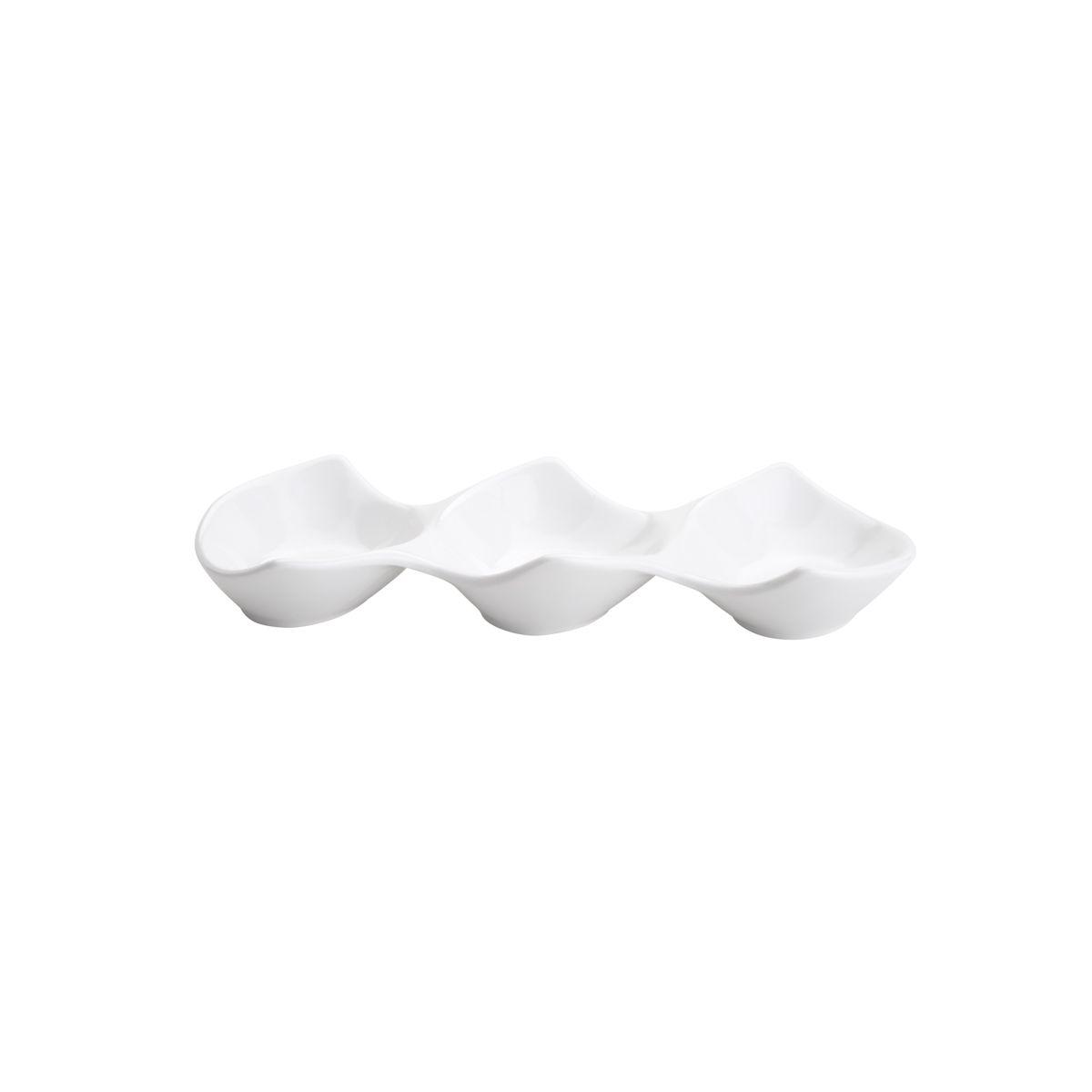 Petisqueira c/ 3 Divisões Bon Gourmet em Porcelana 27359