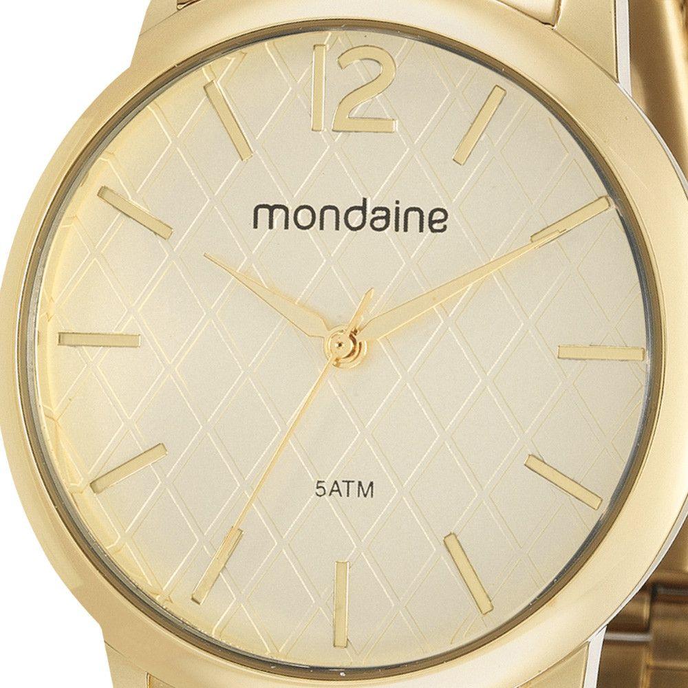 Relógio Feminino Mondaine Kit c/ Colar 53607LPMVDE1K1