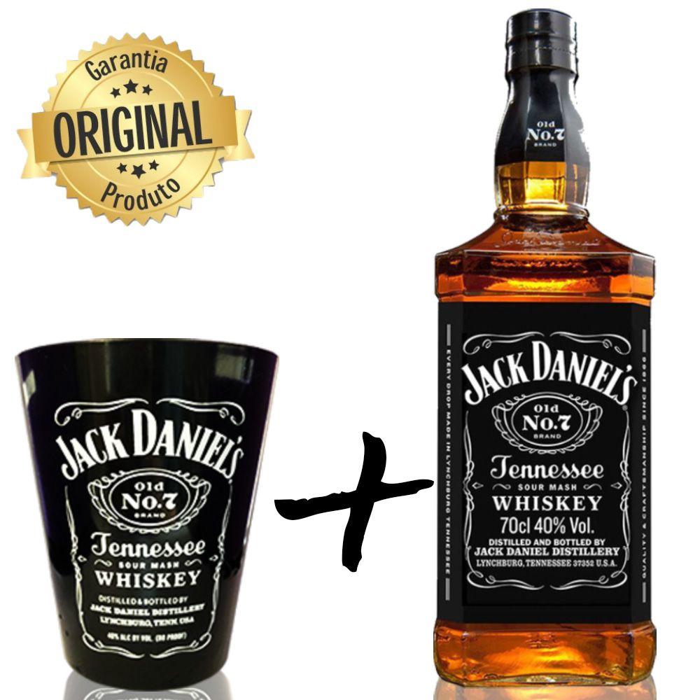 Jack Daniels Old NO.7 1L com Copo Jack Daniel's