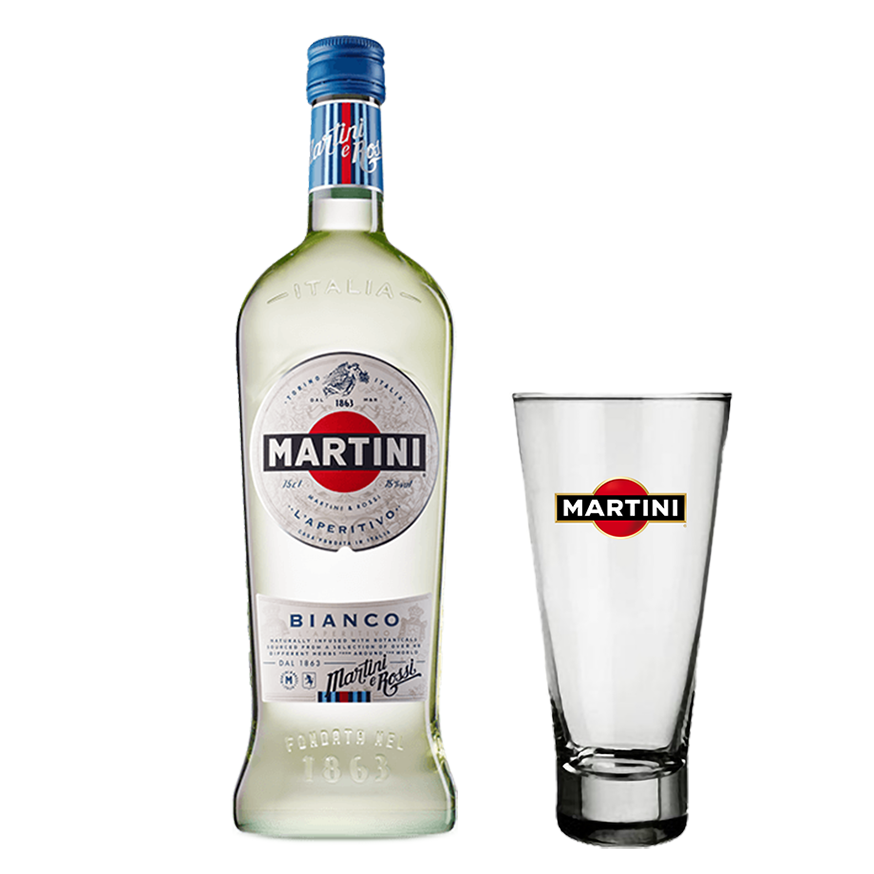 Martini Bianco 750ml com Copo Personalizado
