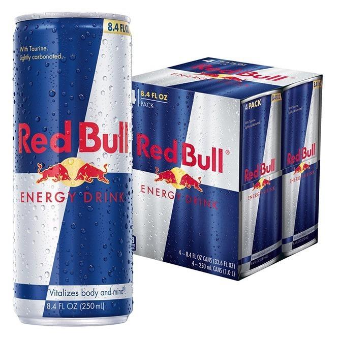 Red Bull Energy Drink Four Pack