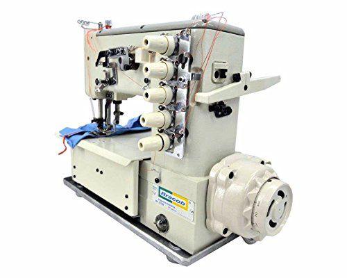 Máquina de Costura Galoneira Industrial Direct Drive 3 Agulhas, 5 Fios BRACOB BC-5000 - (220)