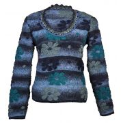 Blusa Plush Azul em Tricot