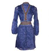 Vestido Bata Transparência Azul