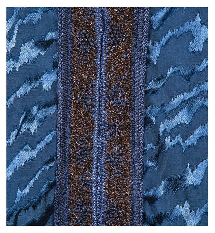Blusa Tripoli Azul com detalhes em Tricot