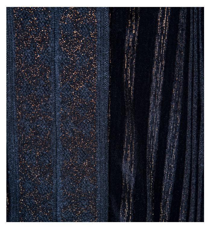 Vestido Veludo Preto com detalhes em Tricot
