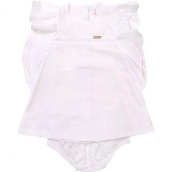Vestido Bebê Entremeio - Branco