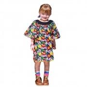 Vestido Infantil Flores Aquareladas Precoce
