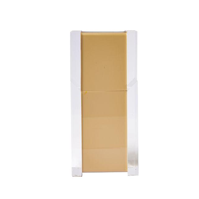Porta Escova Classic em Acrílico Cappuccino