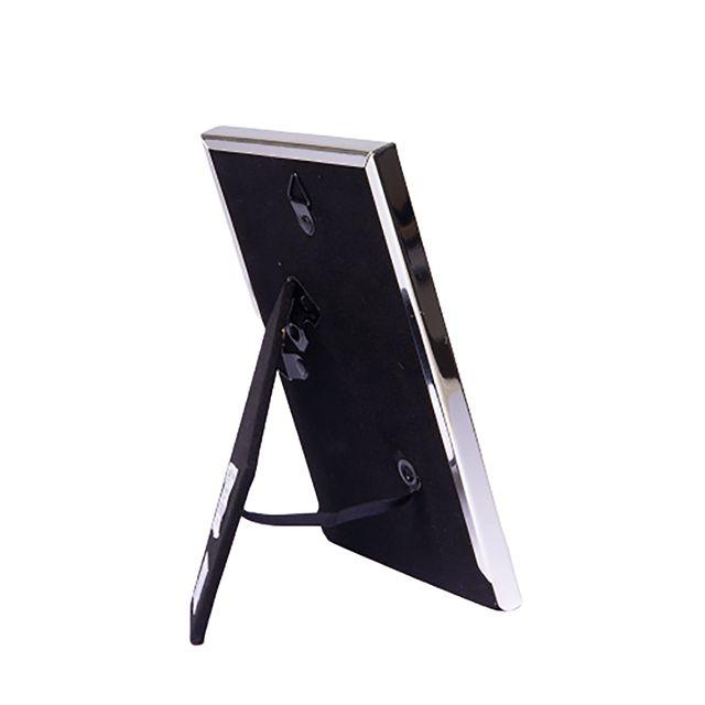 Porta Retrato Curv  em Metal Prateado 13x18cm