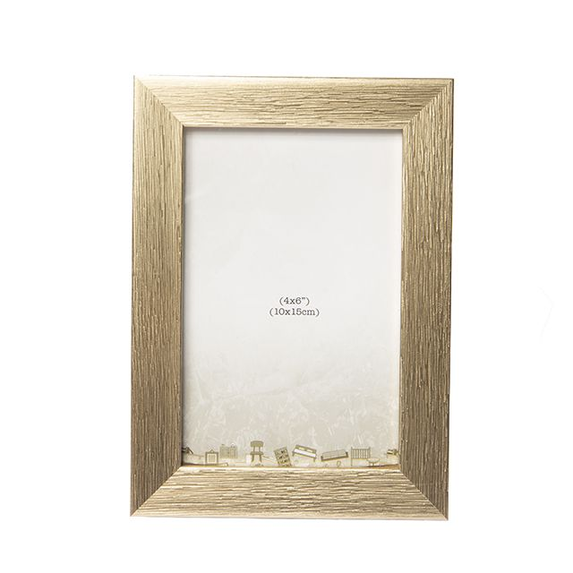 Porta Retrato Moldura em Madeira Dourada 10X15cm
