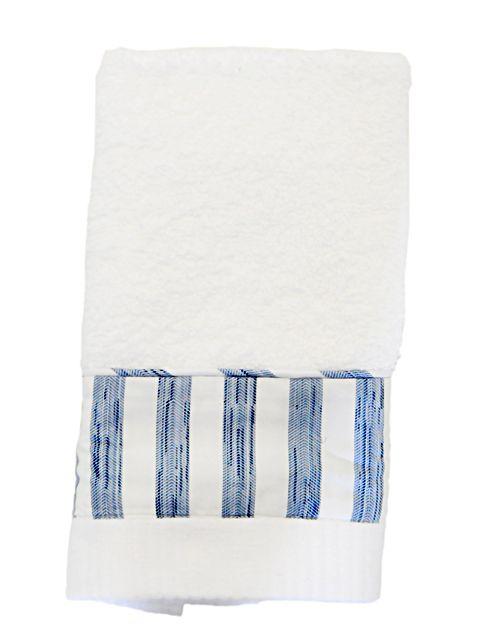 Toalha Lavabo Listras Azuis   Blue Gardênia