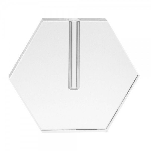 Vaso Hexagonal em Cristal