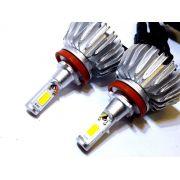 KIT LÂMPADA SUPER LED 2D H8 - 40W 8000K - E-TECH - 7200 LUMIENS - PAR