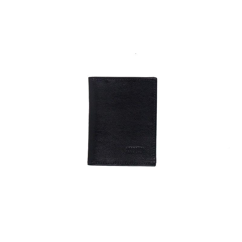 Carteira Porta Cartão de Crédito de Couro Legitimo Preto - Colatto