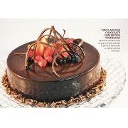 Torta Mousse Chocolate com Frutas Vermelhas