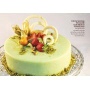 Torta Mousse Pistache com Frutas Vermelhas