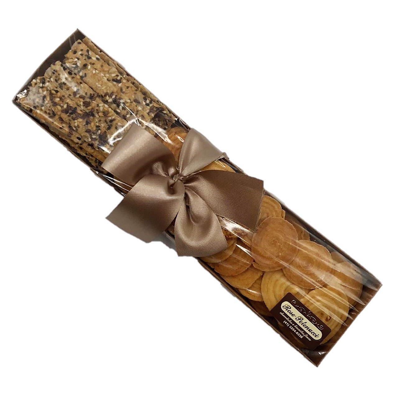 Bandeja com Mix de Biscoitos Salgados M