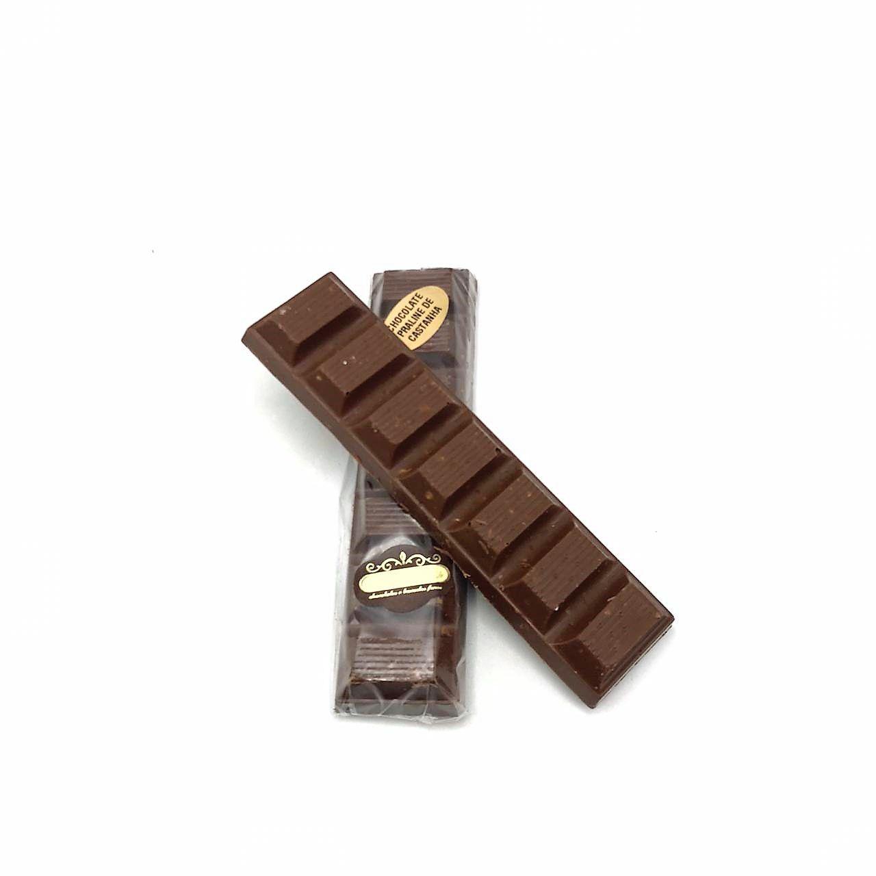 Barra de Chocolate ao Leite com Praline de Castanha