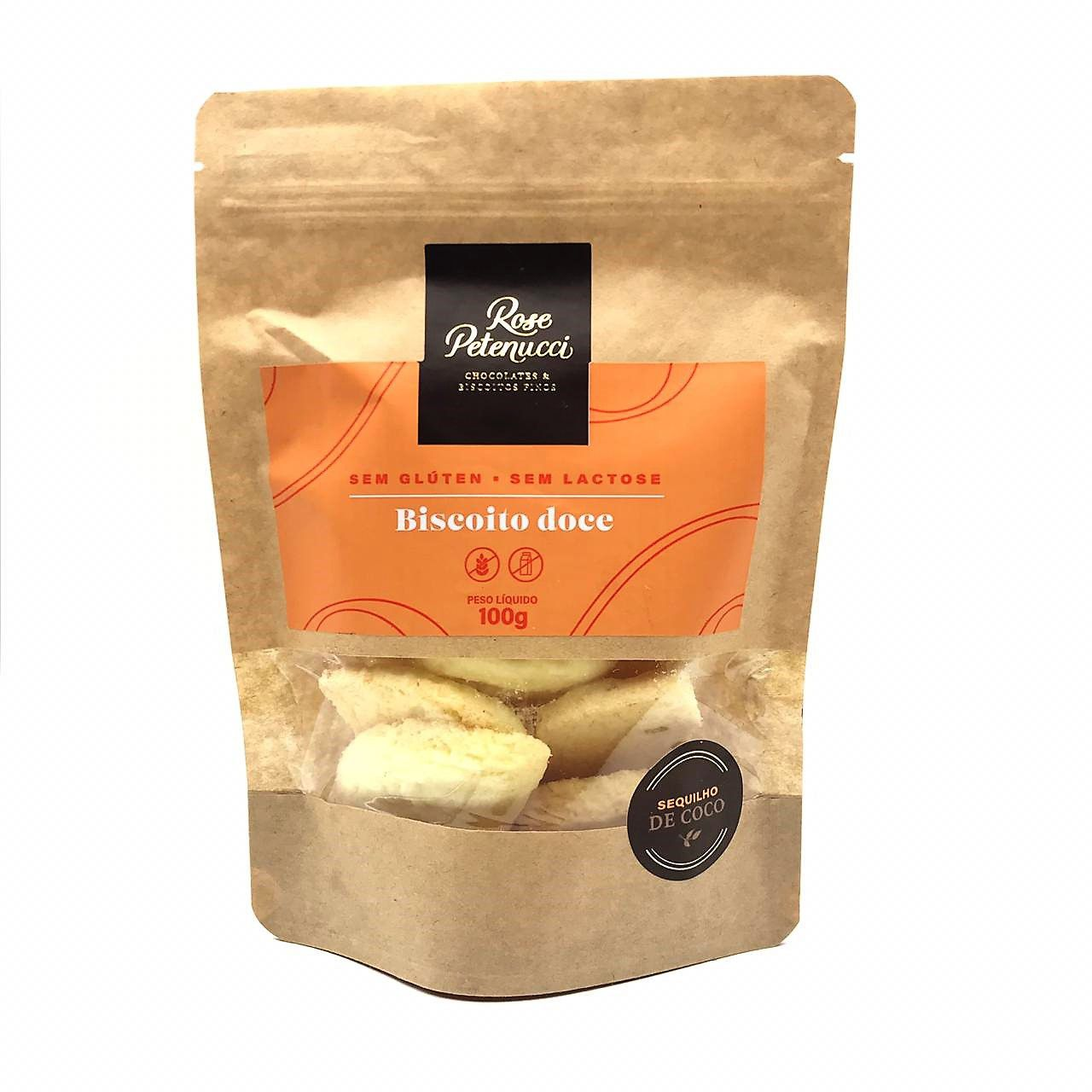 Biscoito Doce Sequilho de Coco Sem Glúten e sem Lactose