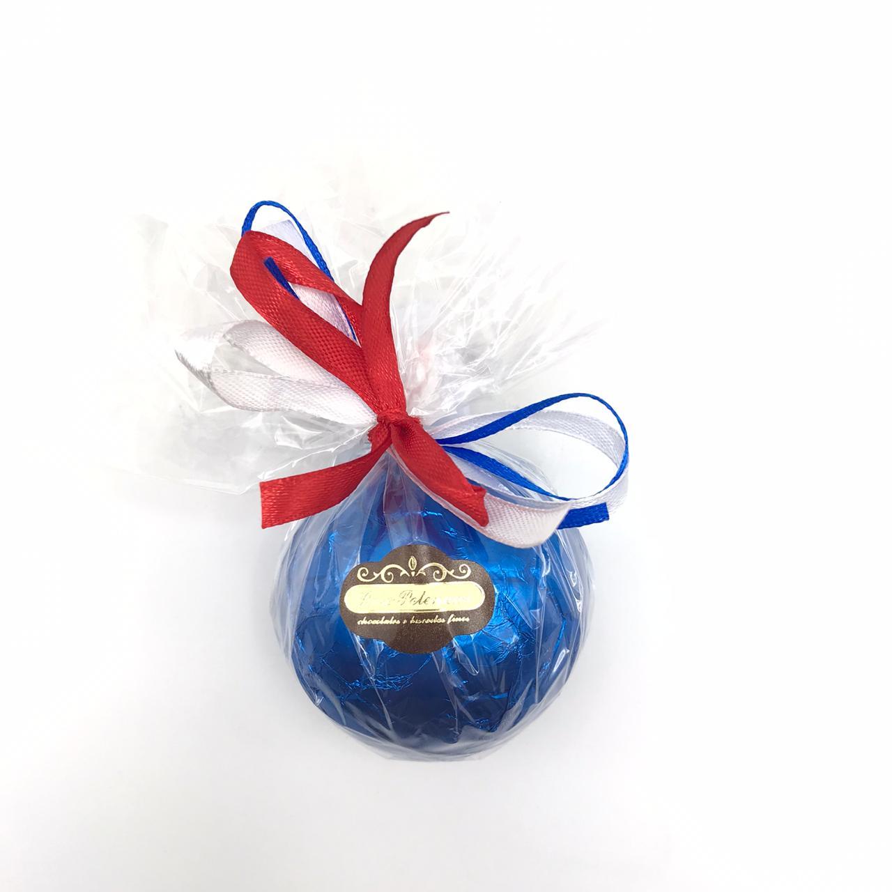 Bola de futebol de chocolate ao Leite Azul