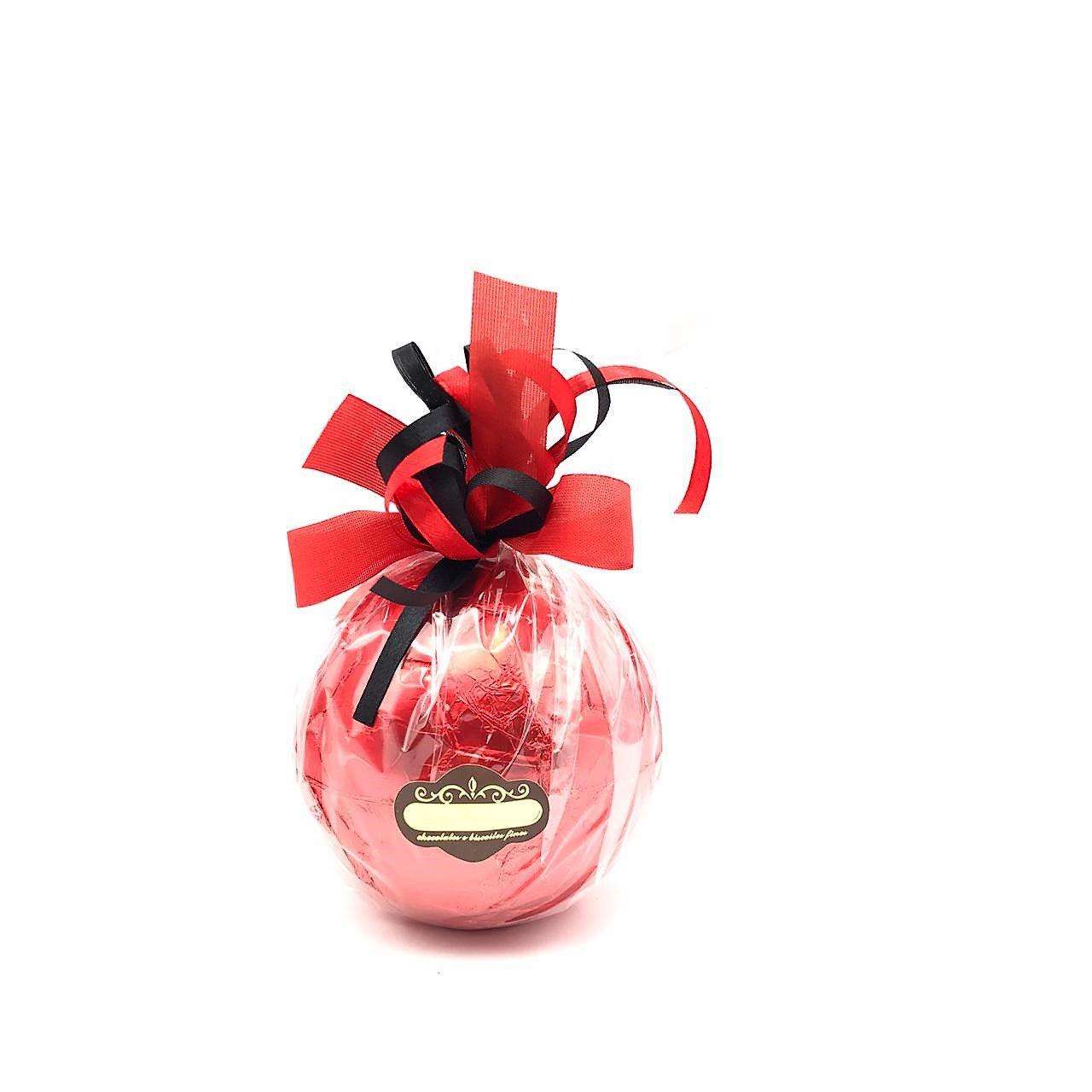 Bola de futebol de Chocolate ao Leite Grande vermelho