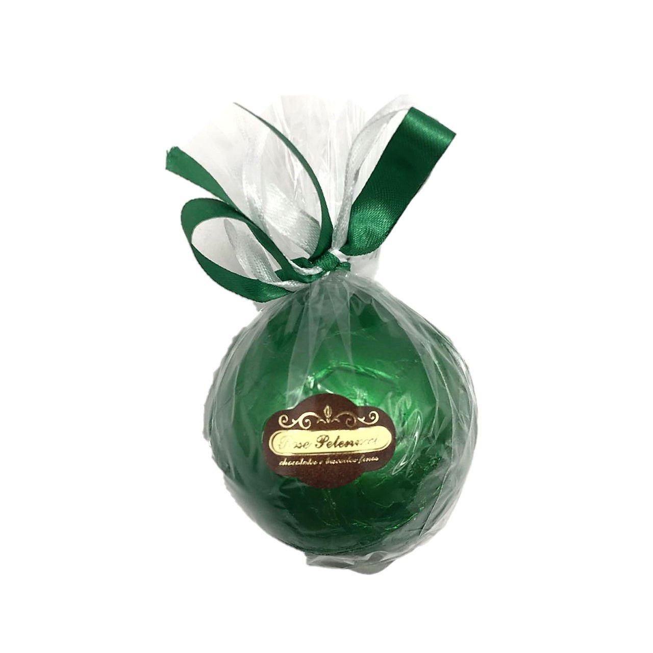 Bola de futebol de chocolate ao Leite Verde