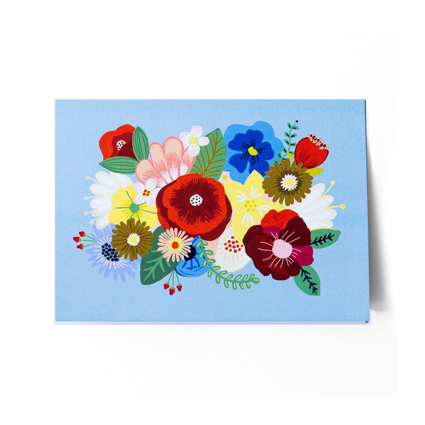 Cartão Floral Azul