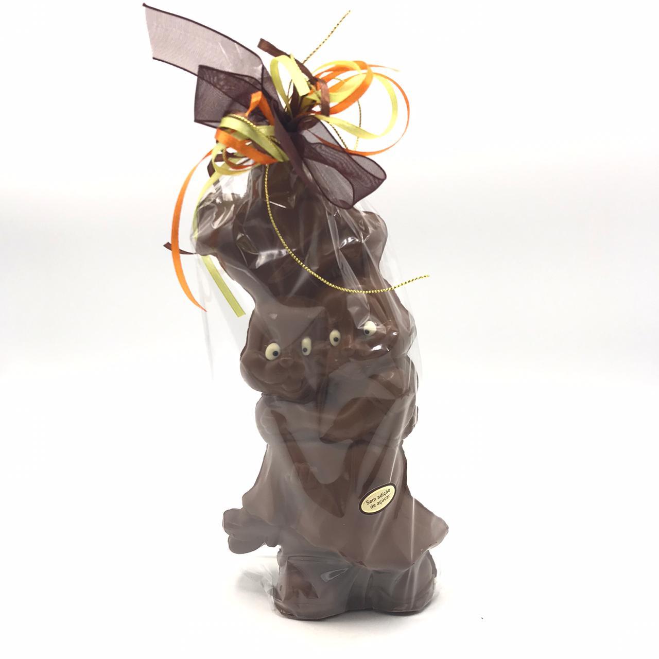 Casal De Coelhos De Chocolate Sem Adição de Açúcar