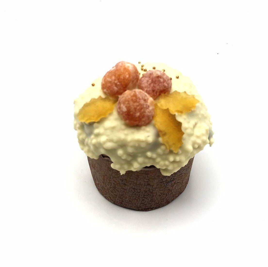 Chocotone  de Chocolate Branco Com Laranja Mini