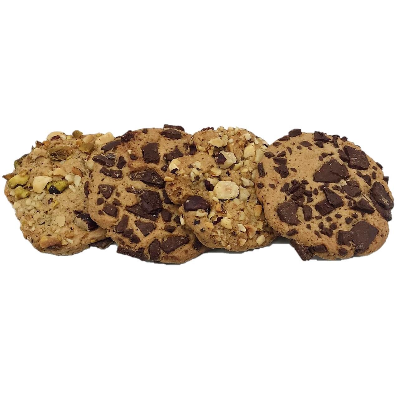 Cookie de Baunilha com Chocolate Meio Amargo e Cookie de Castanhas