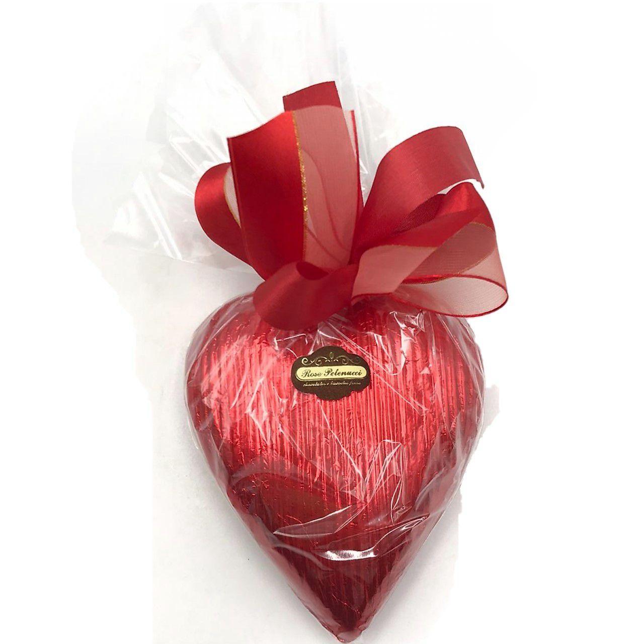 Coração de Chocolate ao Leite e Paçoca