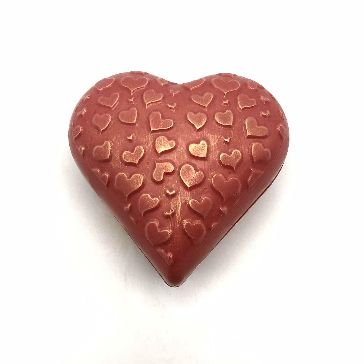 Coração Estampado de Chocolate Ruby