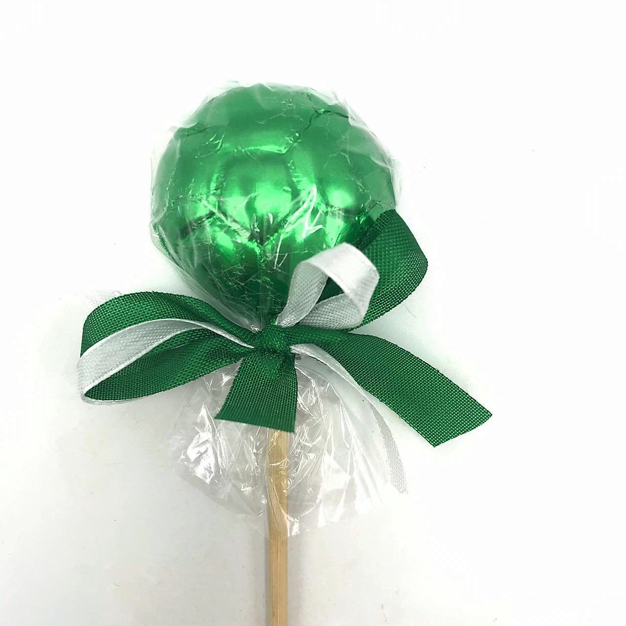 Pirulito Bola de Chocolate Verde
