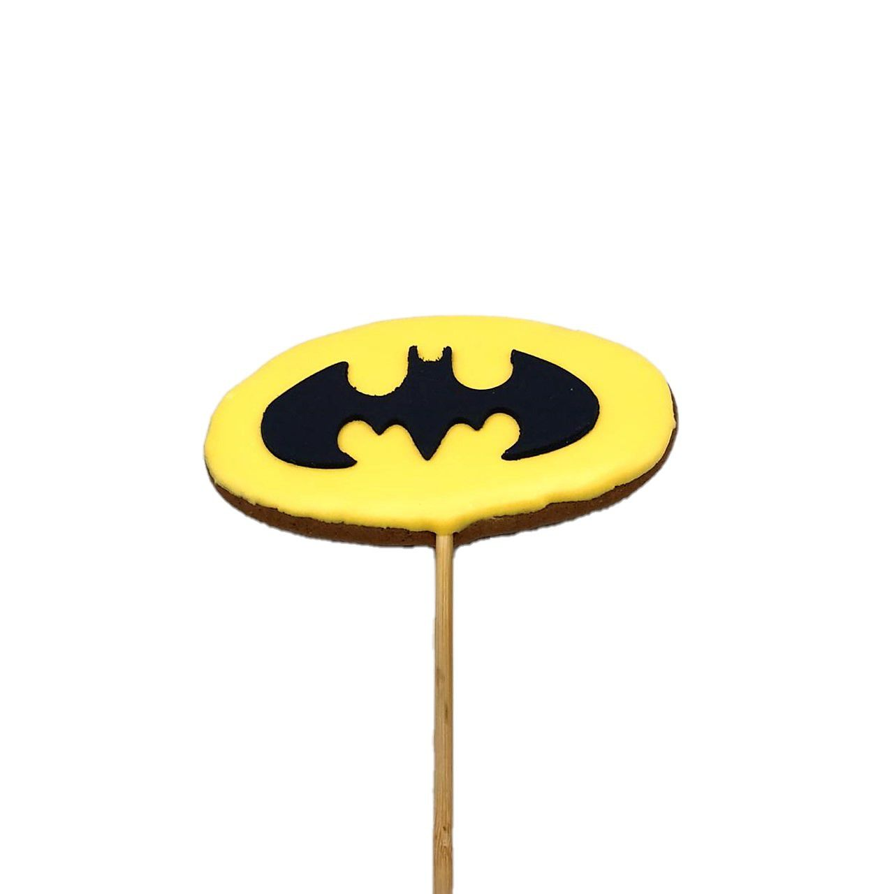 Pirulito de Bolacha de Mel Confeitada Batman