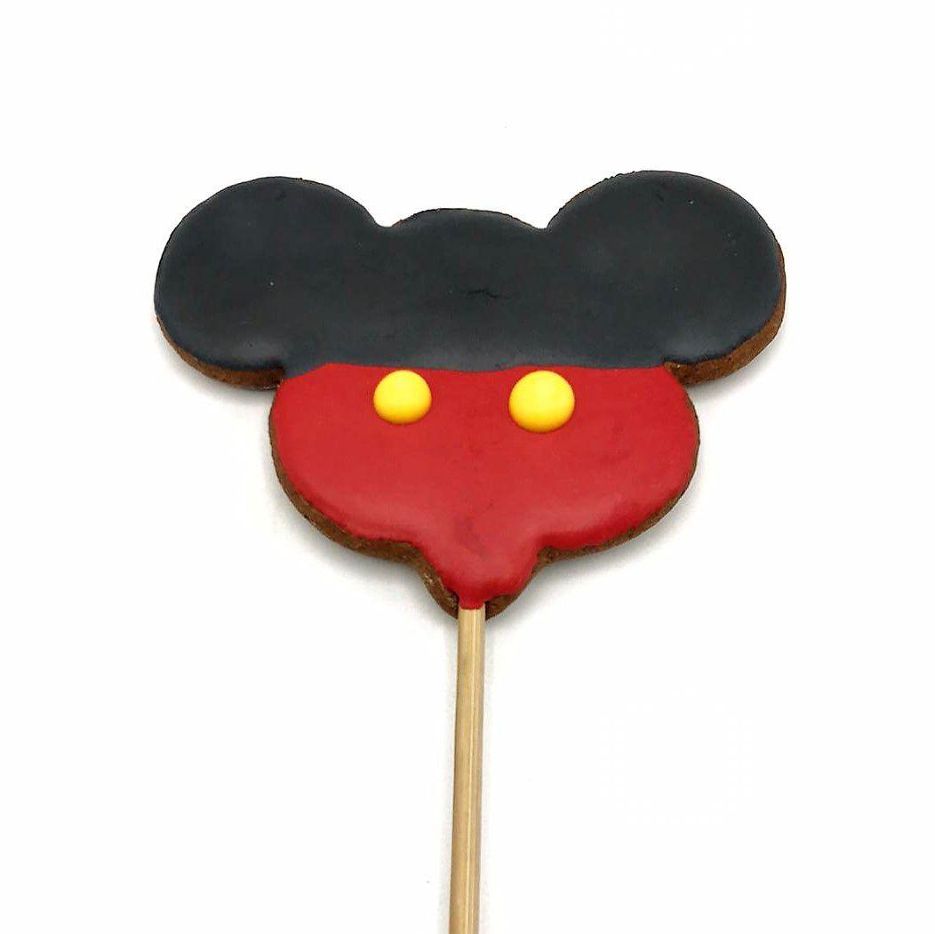 Pirulito de Bolacha de Mel Confeitada Mickey