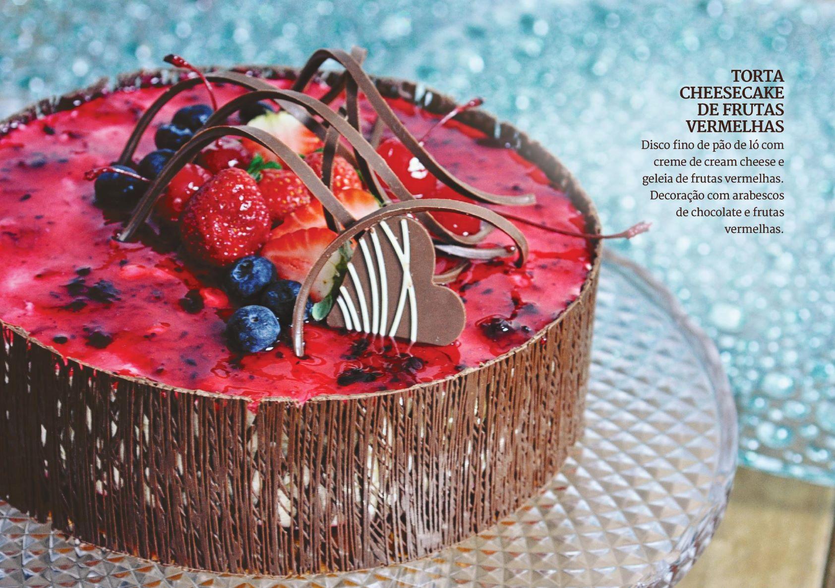 Torta  Cheesecake de Frutas Vermelhas