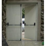Barra Anti Pânico para Porta Dupla Com Maçaneta Fechadura com Chave