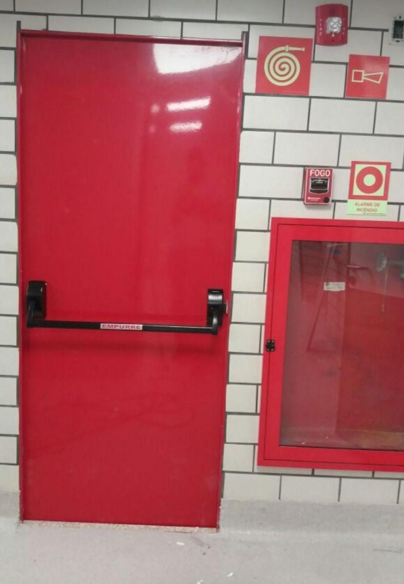 Barra Anti Pânico Para porta Com Fechadura Maçaneta Externa