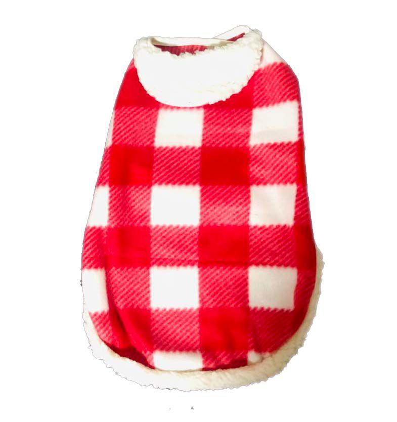 Roupa Capa Soft com Velcro Xadrez
