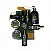 Bag Artesanal Exclusiva + Kit Completão para Barba e Cabelo Linha Completa Black Barts® Single Ron
