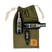 Kit + Bag de Presente com Óleo de Barba + Shampoo + Condicionador Black Barts® Single Ron