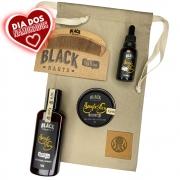 Kit Pente Grátis Personalizado + Balm + Óleo + Shampoo de Barba + Bag Artesanal