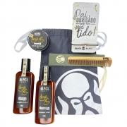 Kit Porta Celular Grátis + Balm + Shampoo e Condicionador de Barba + Pente Personalizado + Bag Artesanal