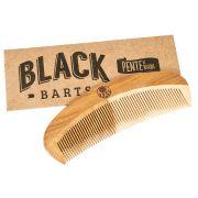 Pente de Madeira para Barba Curvo de Bolso Black Barts®