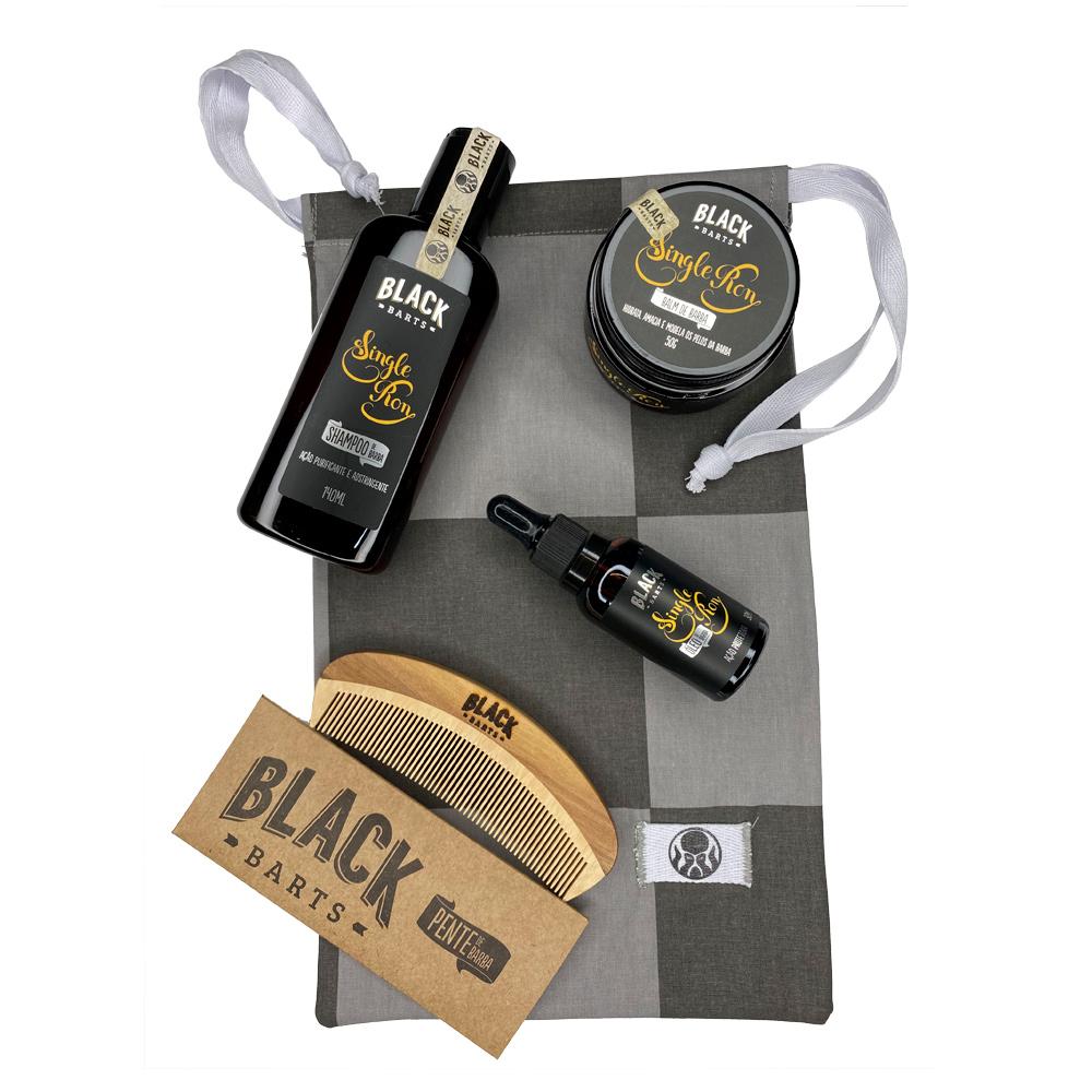 Kit Pente Grátis + Óleo + Balm + Shampoo + Bag Artesanal