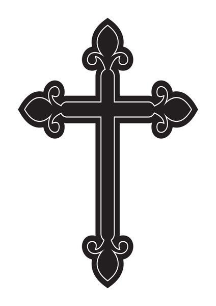 Crucifixo Linha Laser Com Coração - Modelo 04