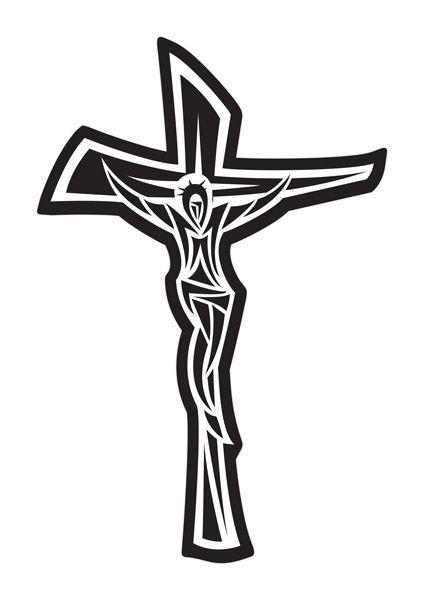 Crucifixo Linha Laser com Jesus - Modelo 02